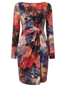 Adrianna Papell Multicolour floral sheath dress