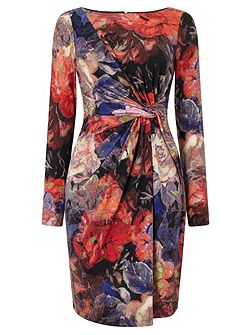 Multicolour floral sheath dress