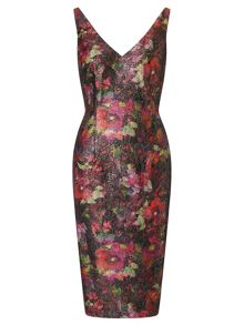 Adrianna Papell Floral cocktail dress