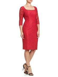 Adrianna Papell 3/4 sleeve lace dress