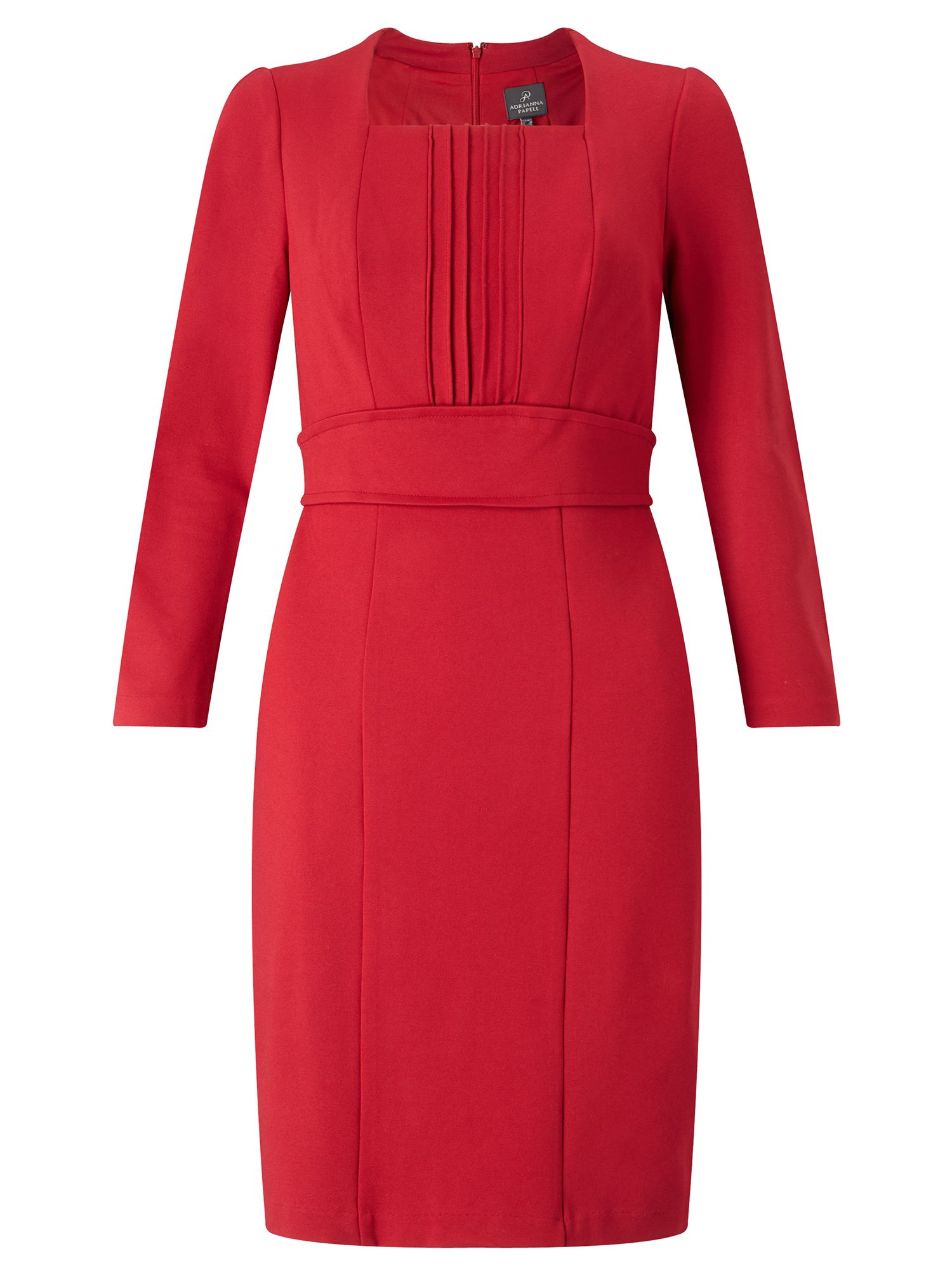 Adrianna Papell Long Sleeve Tailored Dress Red