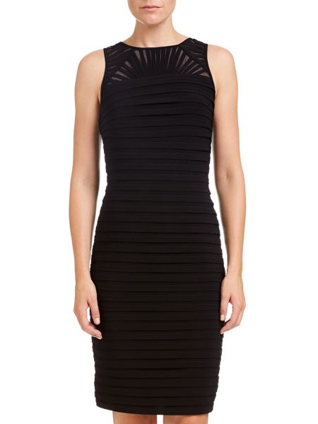 Adrianna Papell Sleeveless bandeau pleat cocktail dress