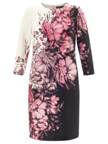 Adrianna Papell Black and pink floral dress