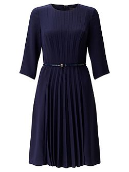 Crepe Dress With Pleated Front