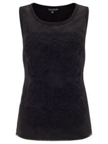 Adrianna Papell Sleeveless embroidered top