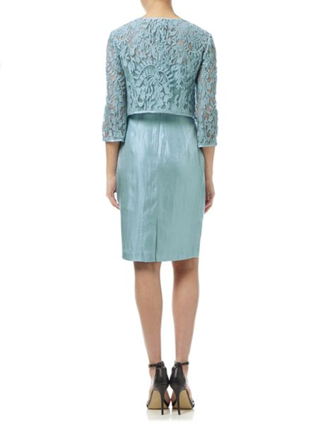 Adrianna Papell Lace cocktail dress and coat set