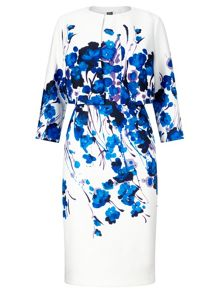 Adrianna Papell Elegant printed shift dress and bolero
