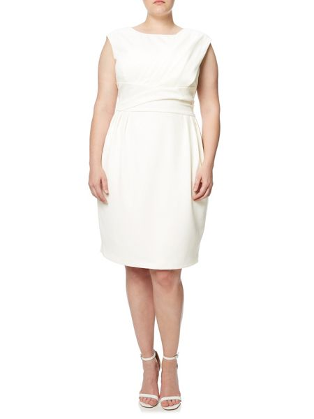 Adrianna Papell Plus Size Cap Sleeve Origami Shift Dress