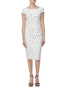 Adrianna Papell Polka dot sheath dress