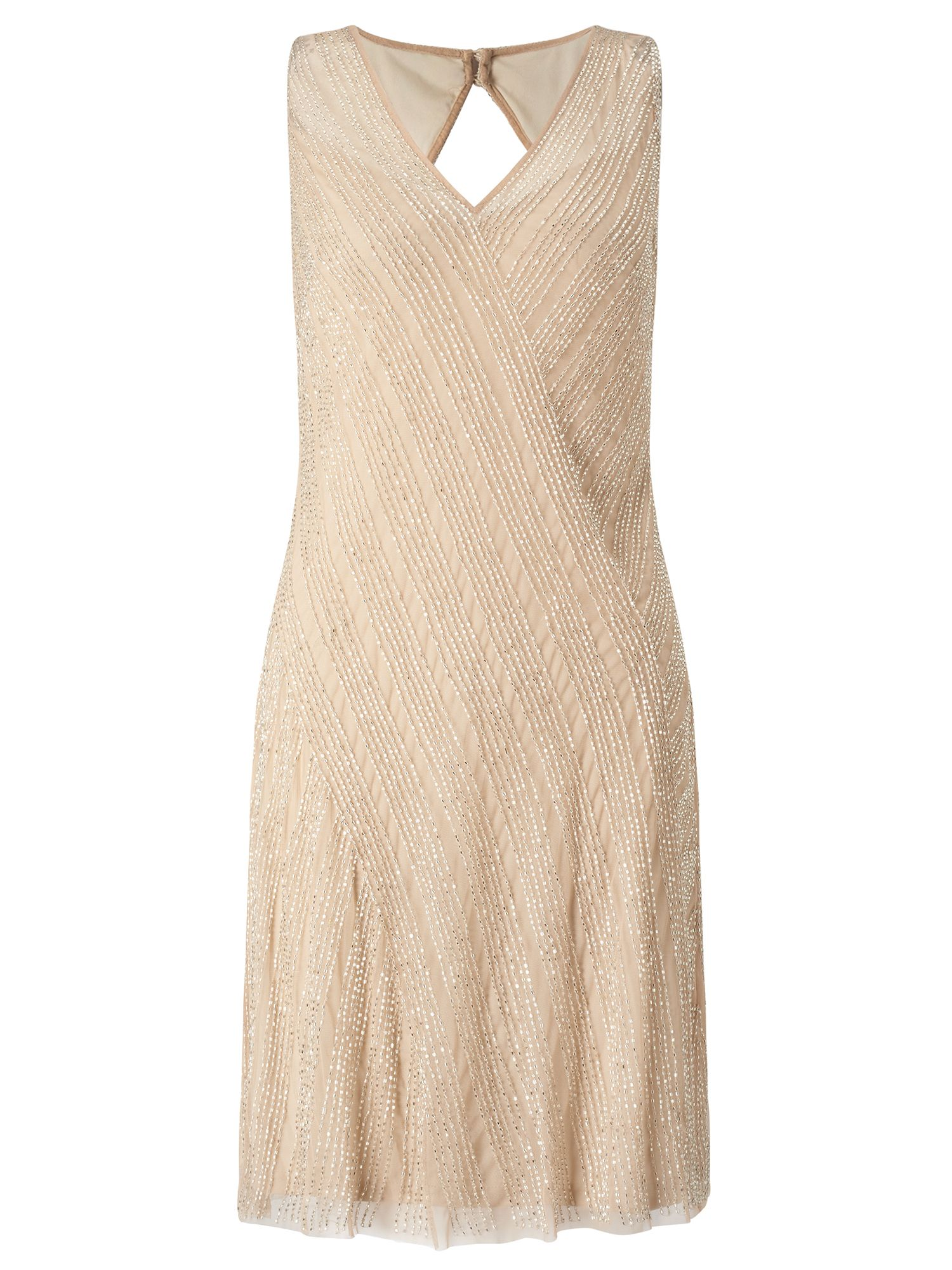 Adrianna Papell Beaded Cocktail Dress, Yellow