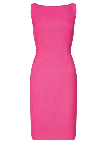 Adrianna Papell Solid pique sheath dress