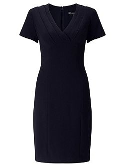 Crepe Dress With Wrap Front