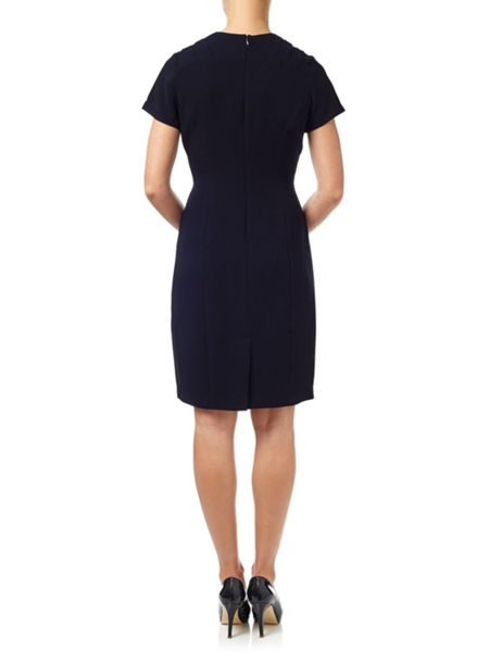 Adrianna Papell Crepe Dress With Wrap Front