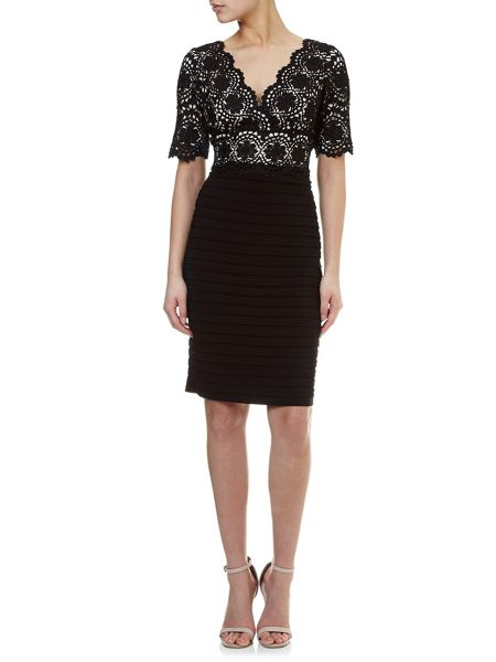 Adrianna Papell Lace bandeau dress