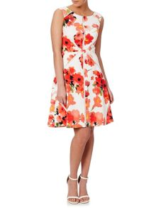Adrianna Papell Fit and flare floral dress