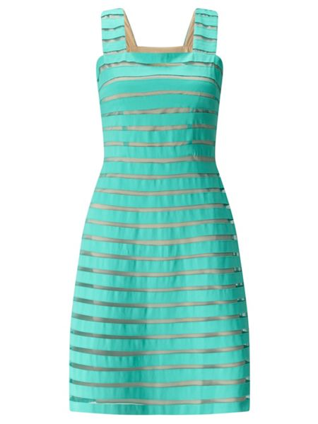 Adrianna Papell Banded Fit And Flare Dress
