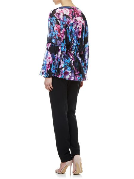 Adrianna Papell Floral chiffon blouse