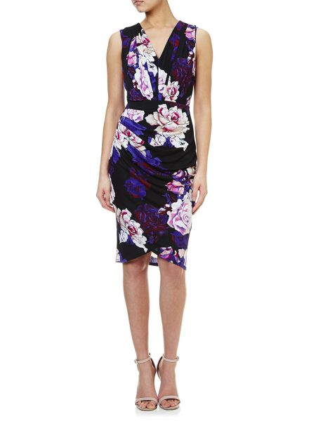 Adrianna Papell Wrap Floral Dress