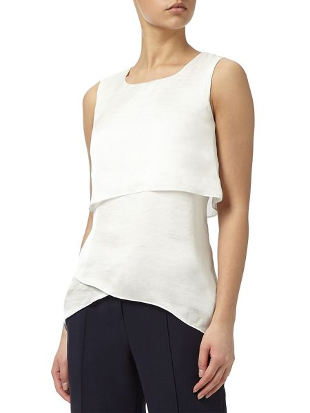 Adrianna Papell High low silky top