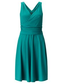 Adrianna Papell Front Wrapped Fit And Flare Dress