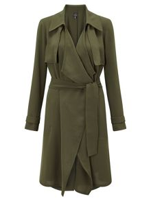 Adrianna Papell Waterfall trench coat