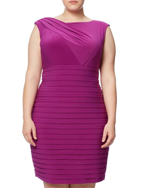 Adrianna Papell Plus Size Cap Sleeve Bandeau Dress