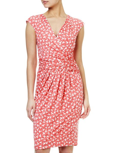 Adrianna Papell Bird print dress
