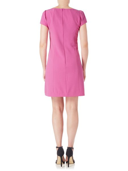 Adrianna Papell Short Sleeve Tailored Dress