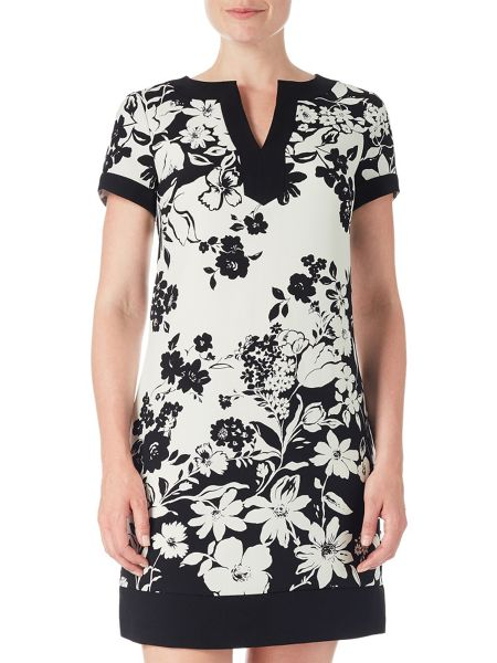 Adrianna Papell Sleeve Floral Print Dress