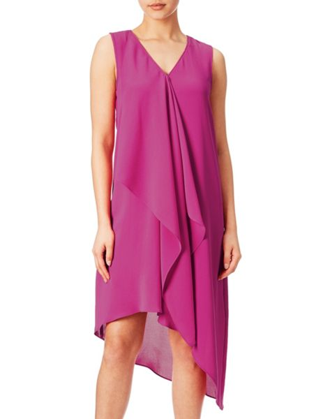 Adrianna Papell Asymmetric drape dress