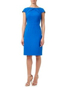Adrianna Papell Sheath Dress With Origami Neckline