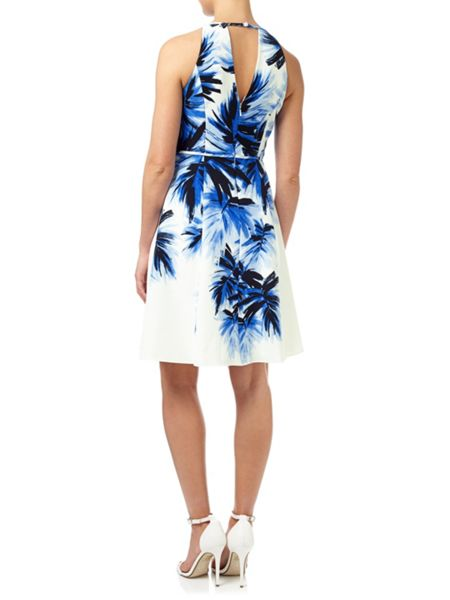 Adrianna Papell Fit And Flare Halter Dress