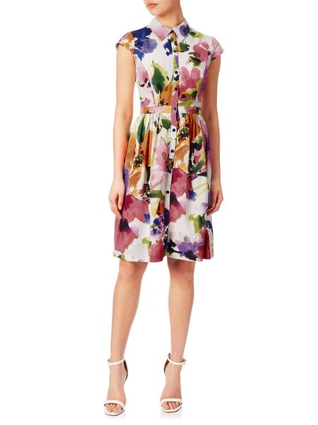 Adrianna Papell Floral shirt dress
