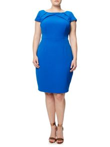 Adrianna Papell Plus Size Sheath Dress With Origami Neckline