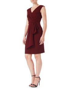 Adrianna Papell Sleeveless Drape Knot Shift Dress