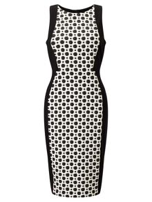 Adrianna Papell Spotted Sheath Dress