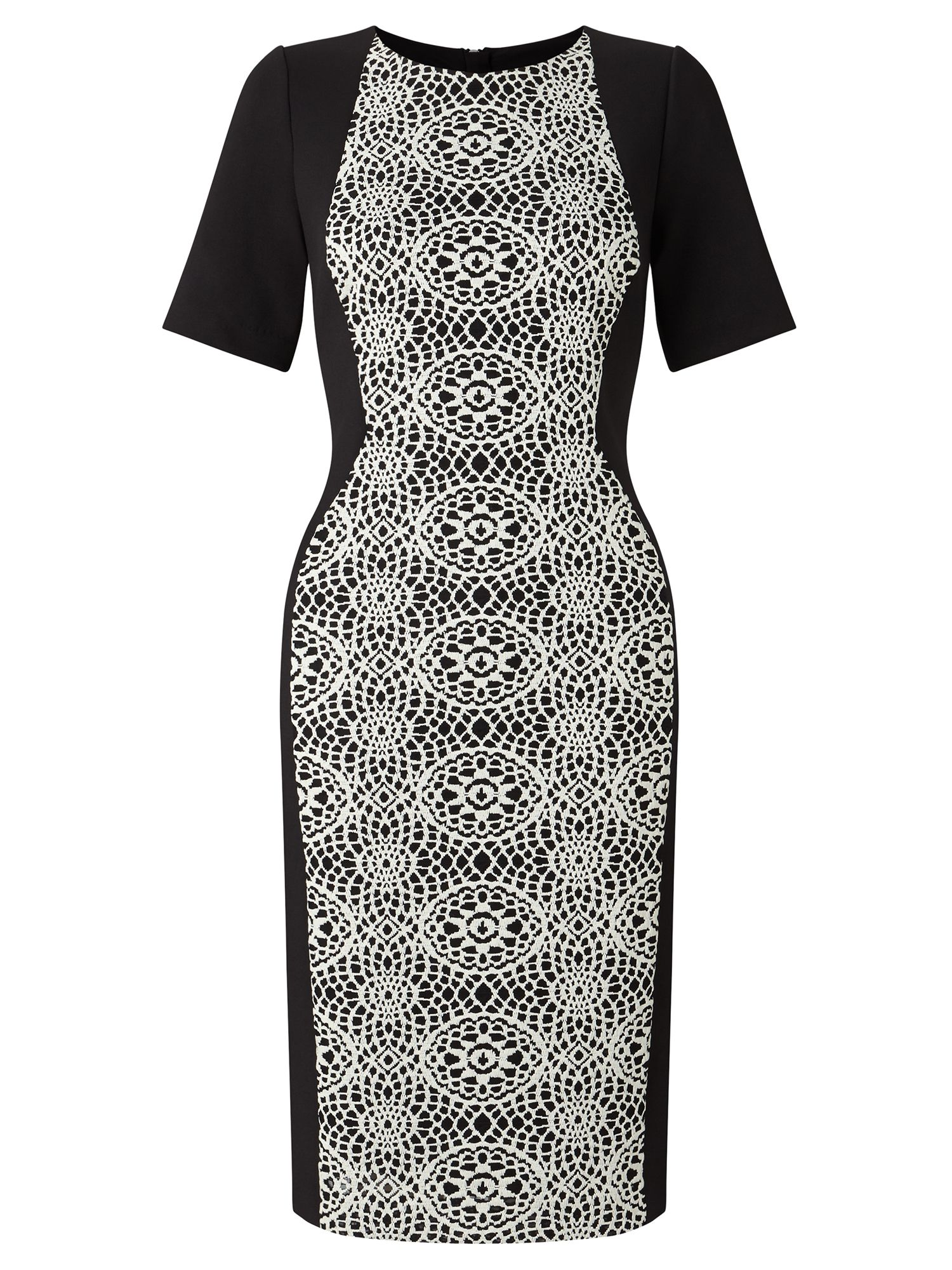 Adrianna Papell Embroidered Panel Sheath Dress, Multi-Coloured
