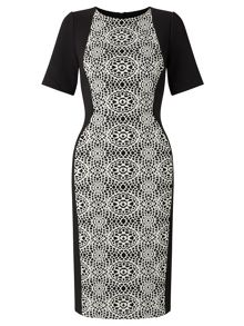 Adrianna Papell Embroidered Panel Sheath Dress