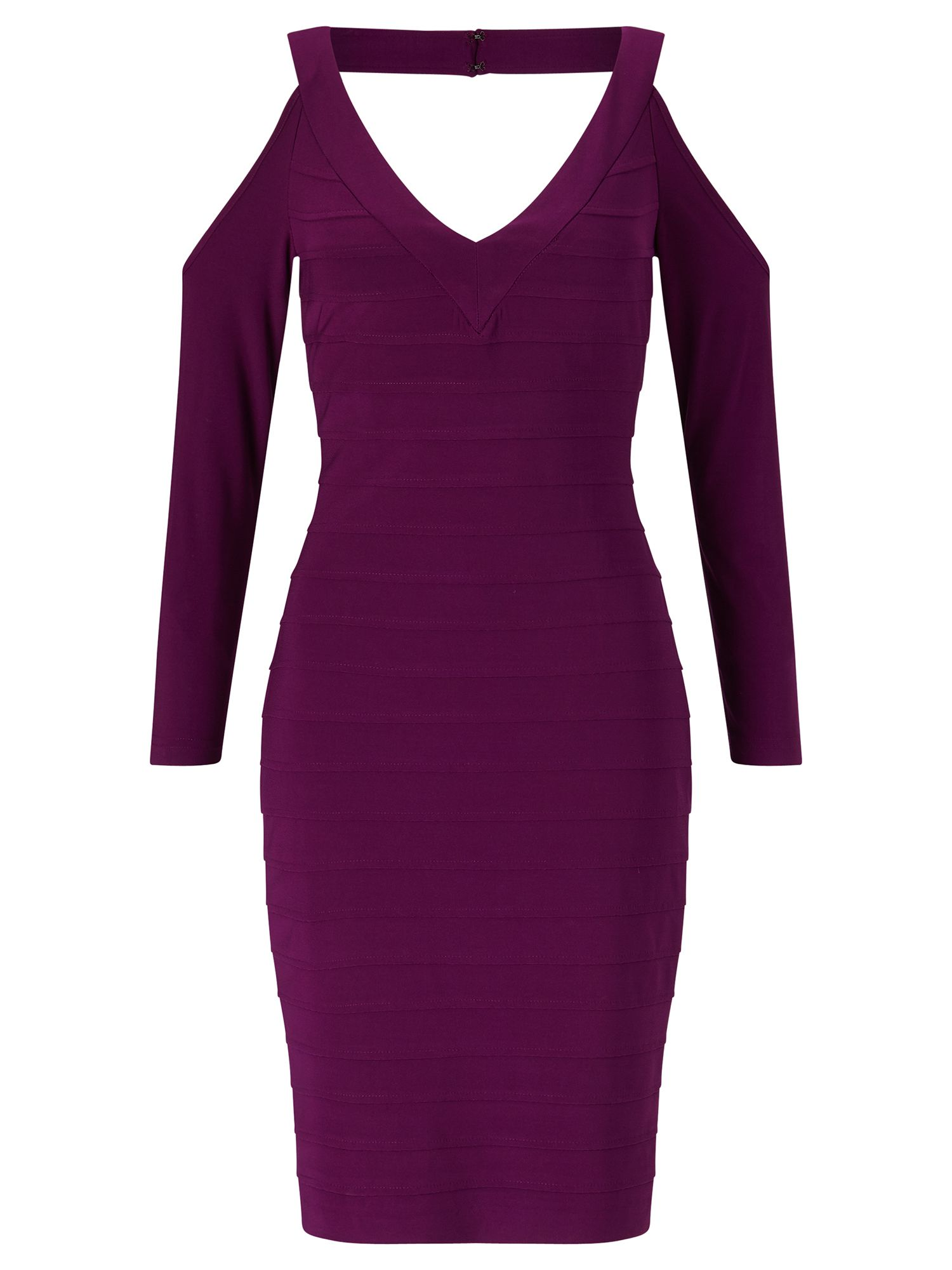 Adrianna Papell Cold shoulder dress, Purple
