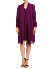 Adrianna Papell Lace Dress & Coat Set