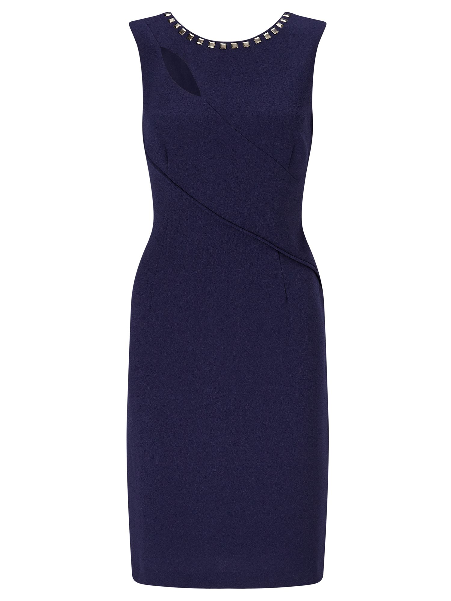 Adrianna Papell Cut out shift dress, Blue