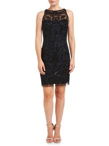 Adrianna Papell Sleeveless Beaded Cocktail Dress