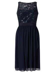 Adrianna Papell Sleeveless Sequin Cocktail Dress