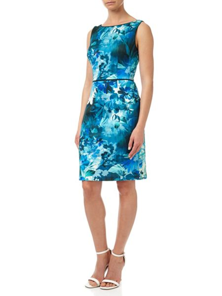 Adrianna Papell Stretch Scuba Jersey Dress