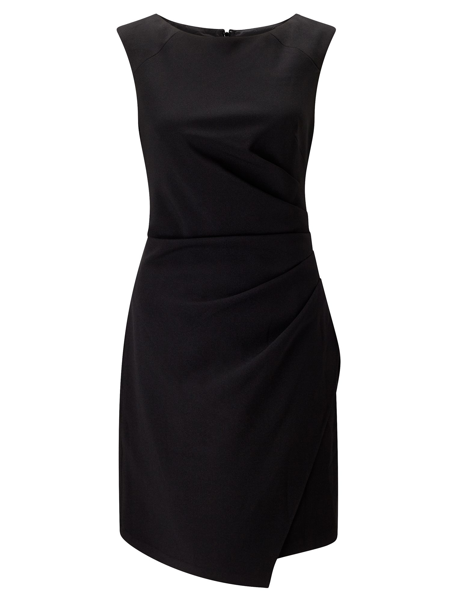 Adrianna Papell Asymmetric Sheath Dress Black