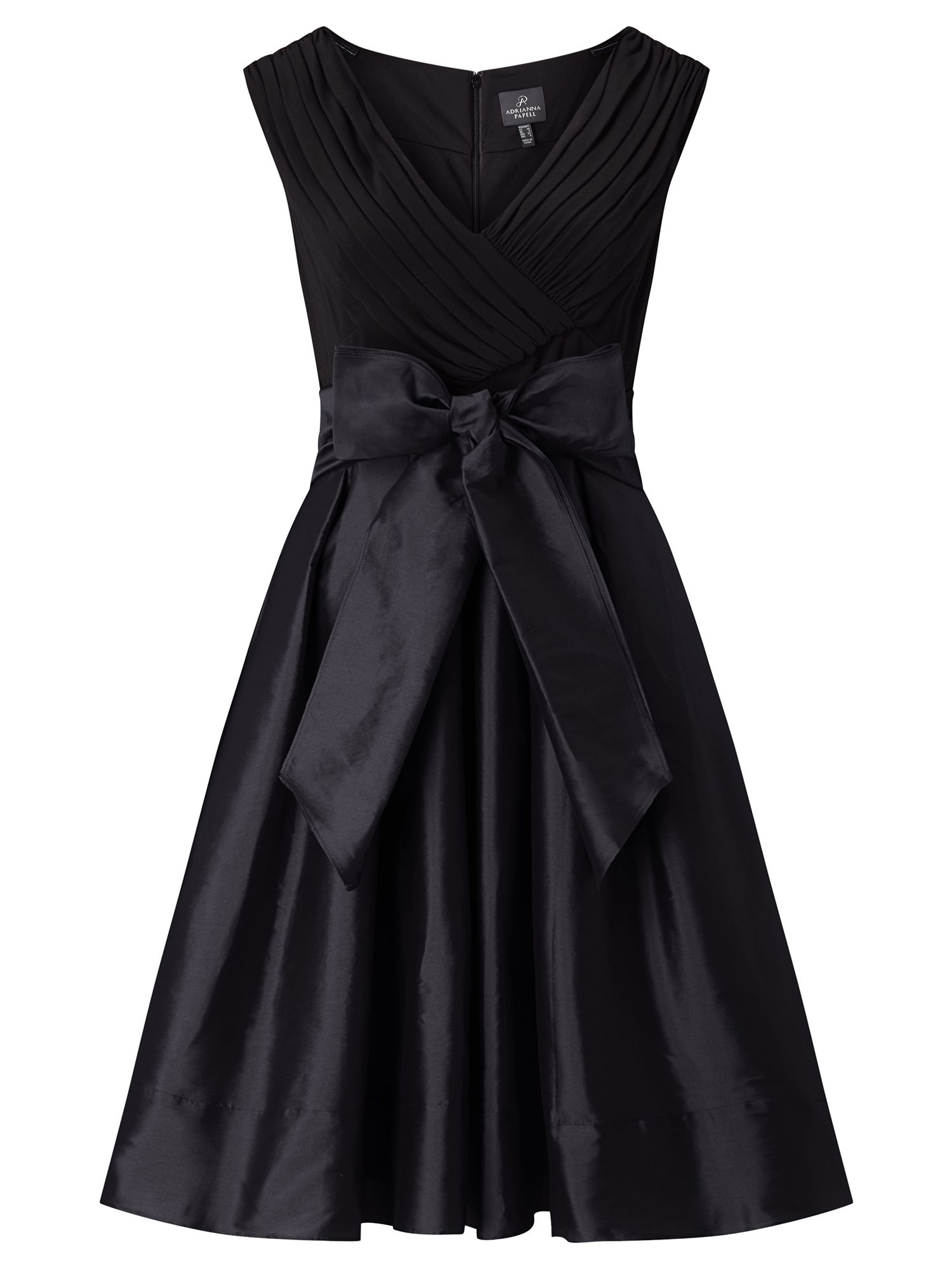 Adrianna Papell Fit And Flare Cocktail Dress Black