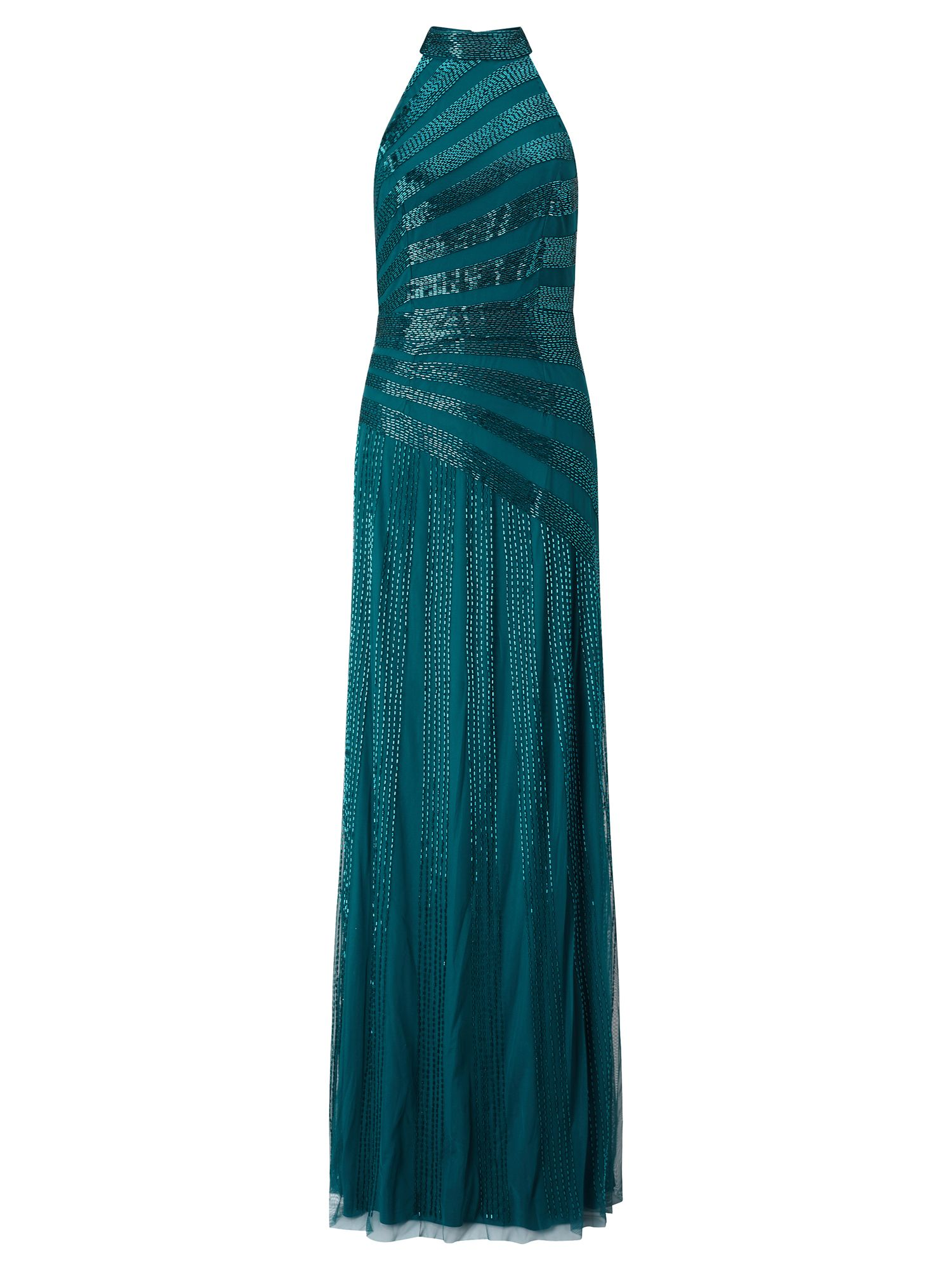 Adrianna Papell Beaded Evening Gown, Green