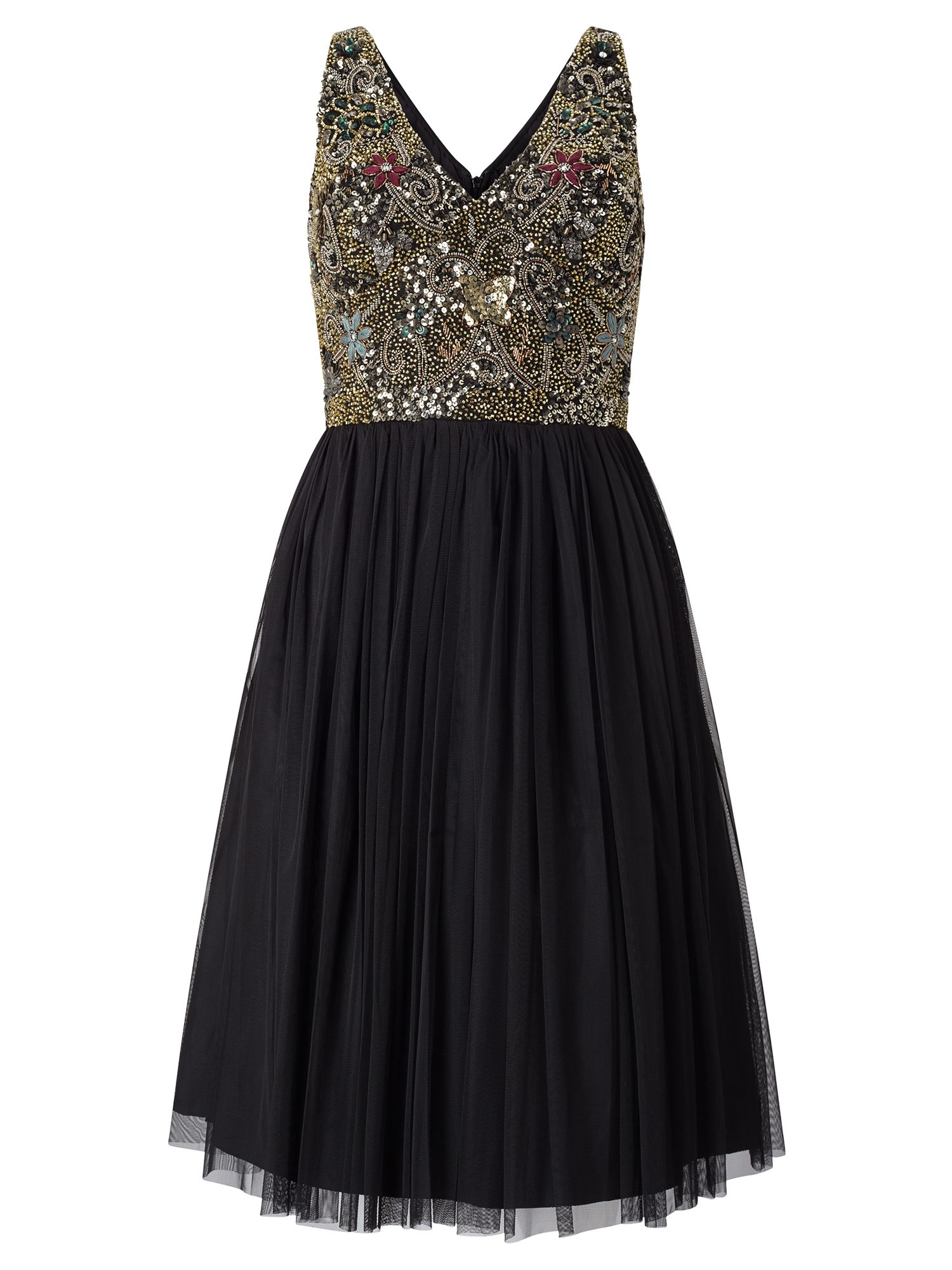 Adrianna Papell Sequin Bodice Cocktail Dress, Black