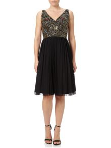 Adrianna Papell Sequin Bodice Cocktail Dress