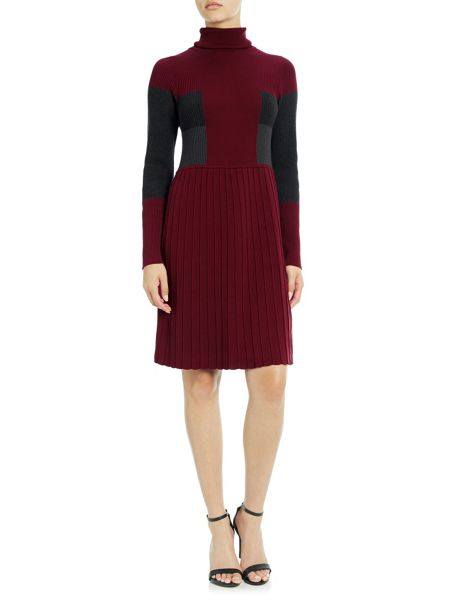 Adrianna Papell Multicolour Long Sleeve Knit Dress